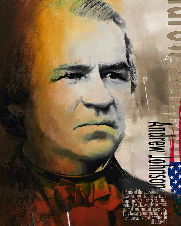 Andrew Johnson Poster featuring the painting Andrew Johnson by Corporate Art Task Force