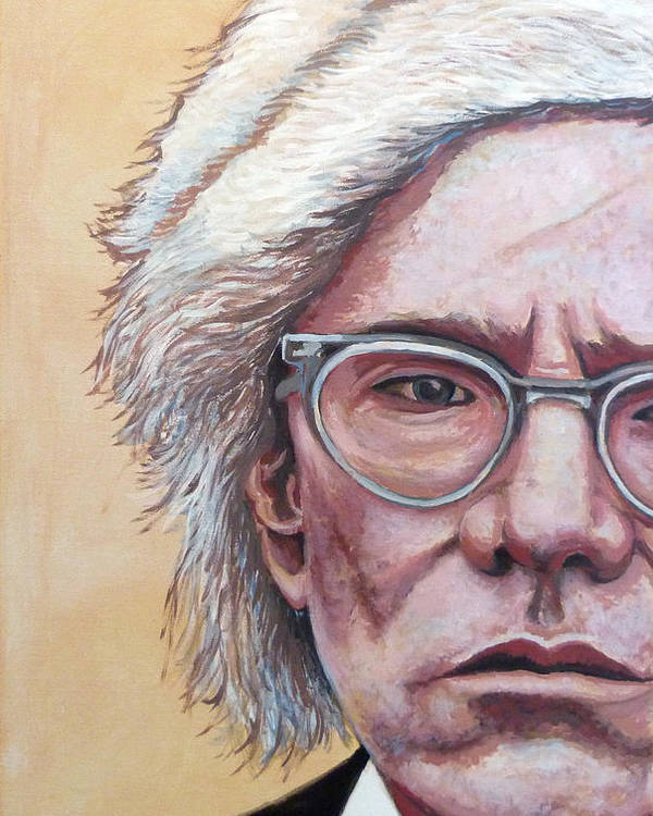 Andy Warhol Poster featuring the painting Andy Warhol by Tom Roderick