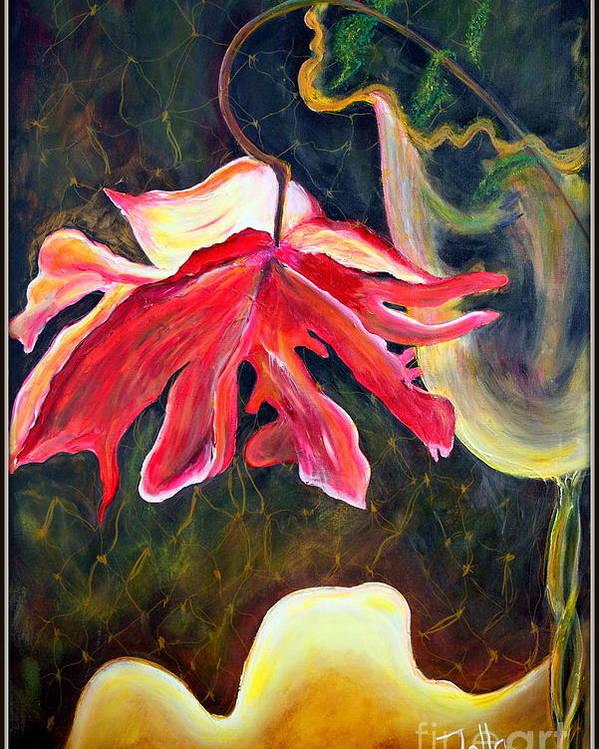 Anemone Poster featuring the painting Anemone Me by Jolanta Anna Karolska