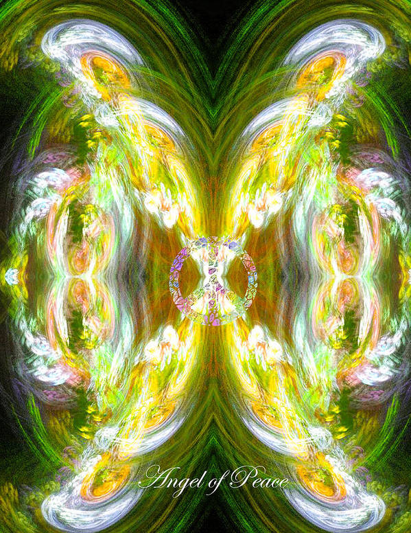 Peace Poster featuring the digital art Angel Of Peace by Diana Haronis