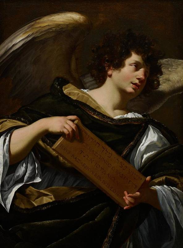 Angel Poster featuring the painting Angels With Attributes Of The Passion by Simon Vouet