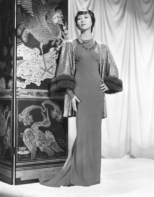1930s Fashion Poster featuring the photograph Anna May Wong In An Edith Head-designed by Everett