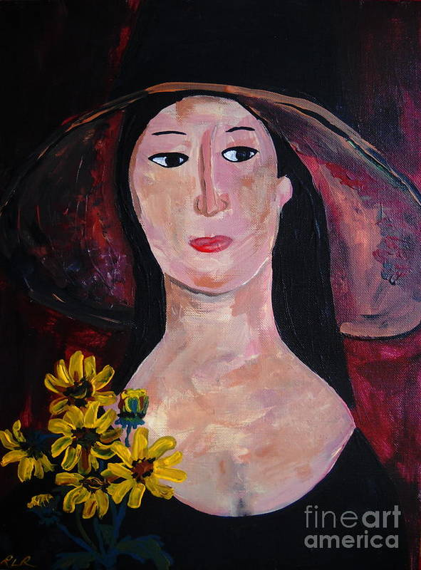 Woman Poster featuring the painting Anna by Reina Resto