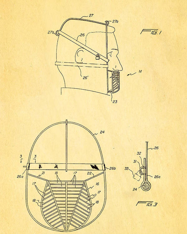 Food Poster featuring the photograph Anti Eating Mask Patent Art 1982 by Ian Monk