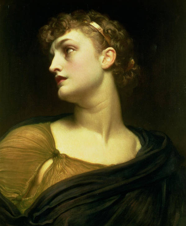 Portrait Poster featuring the painting Antigone by Frederic Leighton