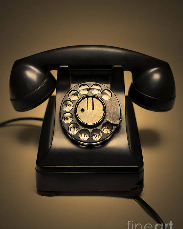 Antique Poster featuring the photograph Antique Telephone by Diane Diederich