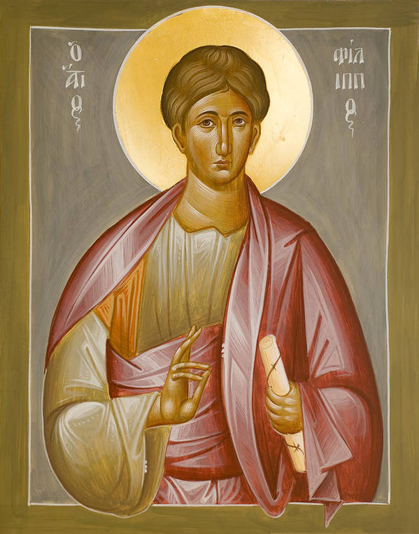 Apostle Philip Poster featuring the painting Apostle Philip by Julia Bridget Hayes