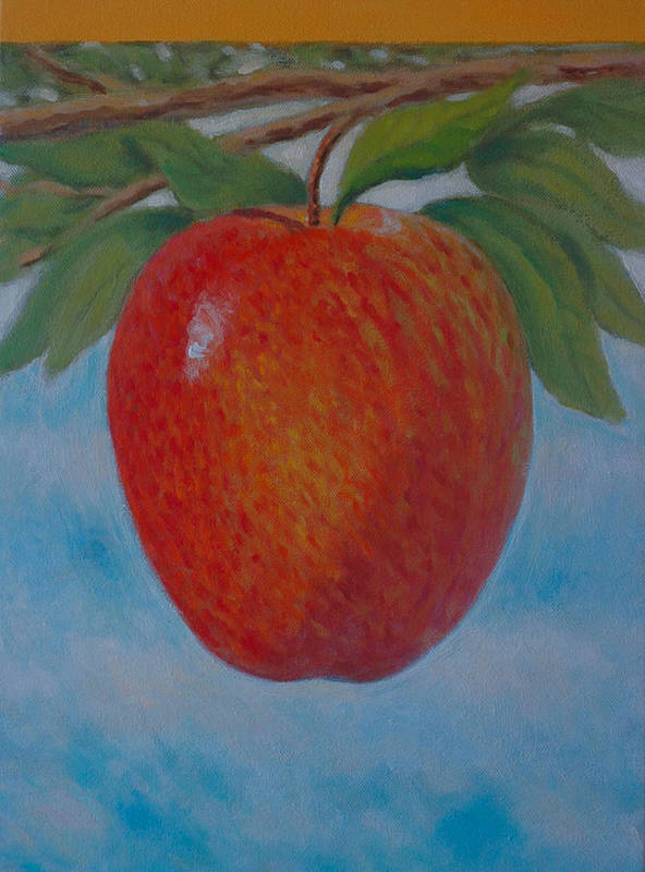 Set Poster featuring the painting Apple 1 In A Series Of 3 by Don Young