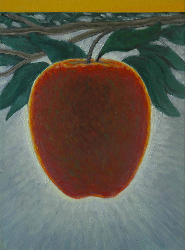 Set Poster featuring the painting Apple 2 In A Series Of 3 by Don Young