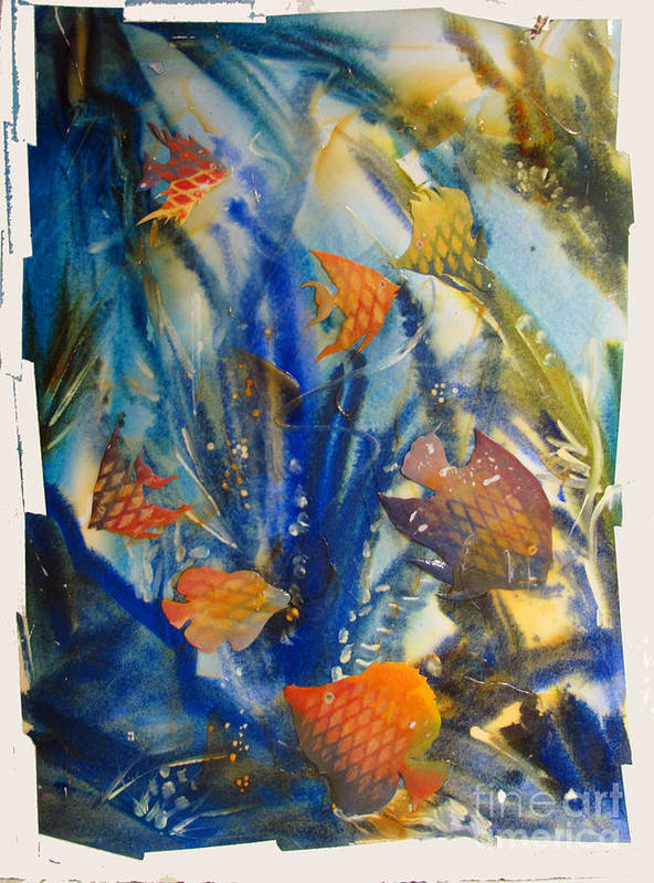 Aquarium Poster featuring the painting Aquarium 2 Archived Work by Charlie Spear