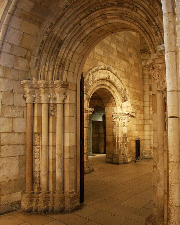 Archway Poster featuring the photograph Archways Cloisters Nyc by Christiane Schulze Art And Photography
