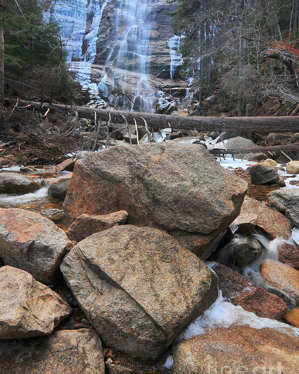 Arethusa Falls Poster featuring the photograph Arethusa Falls by Catherine Reusch Daley