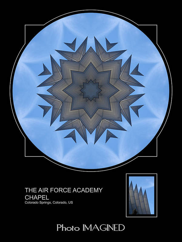 Kaleidoscope Poster featuring the digital art Ari Force Chapel by Mike Johnson