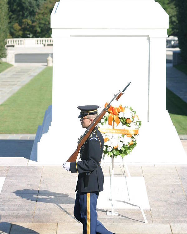 Arlington Poster featuring the photograph Arlington National Cemetery - Tomb Of The Unknown Soldier - 121214 by DC Photographer