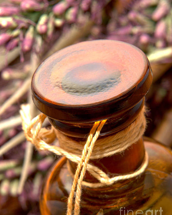 Aromatherapy Poster featuring the photograph Aromatherapy Bottle by Olivier Le Queinec