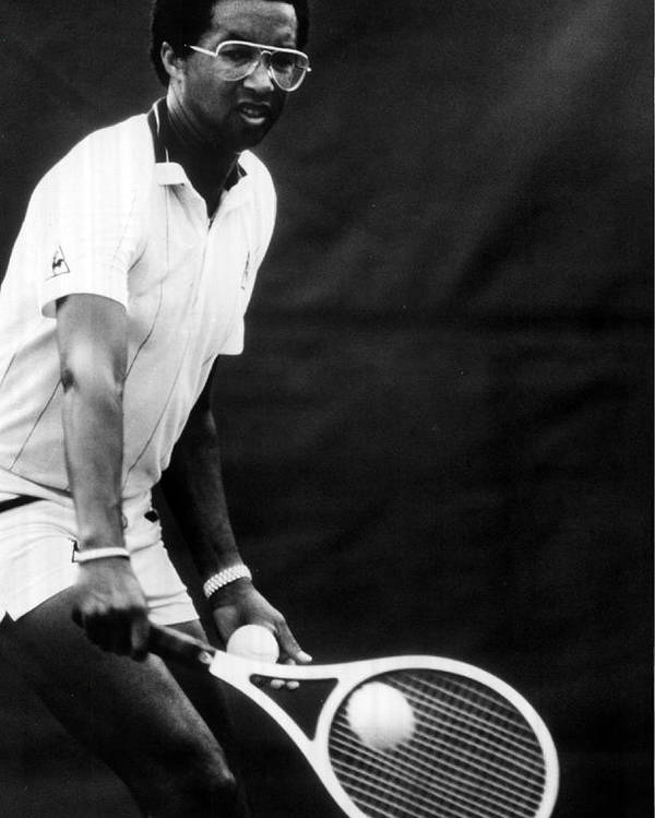 Retro Images Archive Poster featuring the photograph Arthur Ashe Playing Tennis by Retro Images Archive