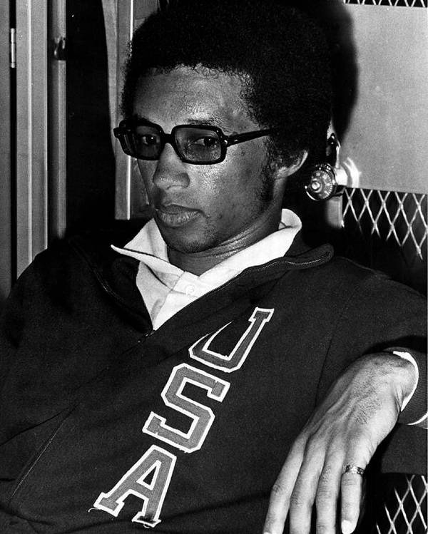 Retro Images Archive Poster featuring the photograph Arthur Ashe With Sunglasses by Retro Images Archive