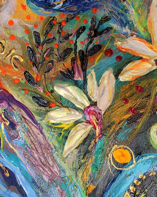 Jewish Art Prints Poster featuring the painting Artwork Fragment 35 by Elena Kotliarker