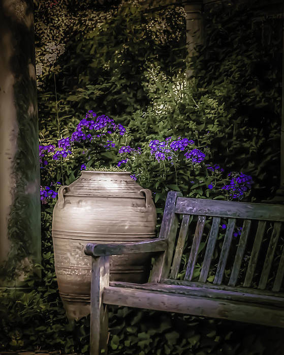 Garden Poster featuring the photograph As Evening Falls by Julie Palencia