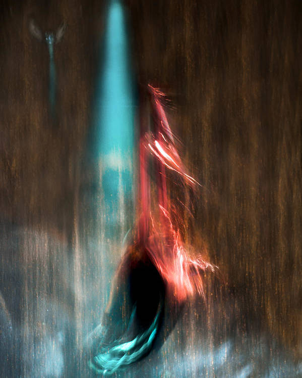 Abstract Poster featuring the photograph Ascension by Linda McRae