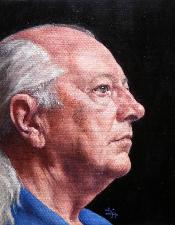 Portrait Poster featuring the painting Ashby's Portrait by Deborah Allison
