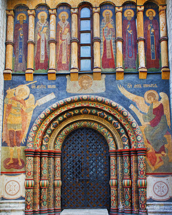 Assumption Cathedral Entrance Poster featuring the photograph Assumption Cathedral Entrance by Elena Nosyreva
