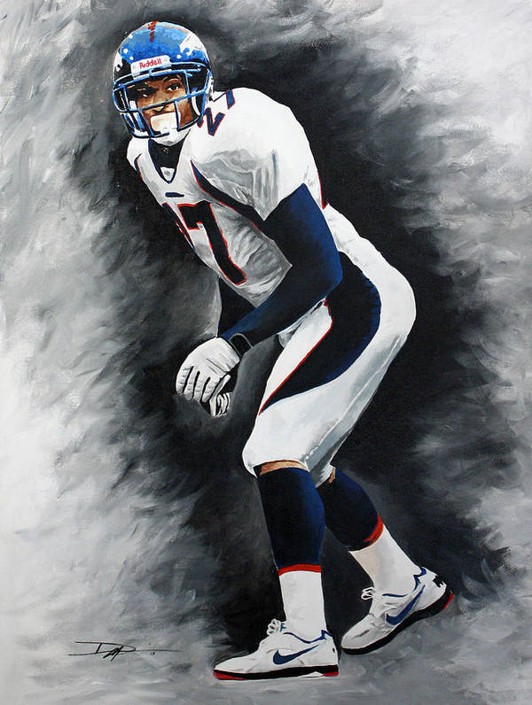 Steve Atwater Poster featuring the drawing Atwater by Don Medina