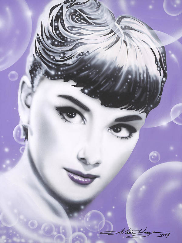 Audrey Hepburn Poster featuring the painting Audrey Hepburn by Alicia Hayes