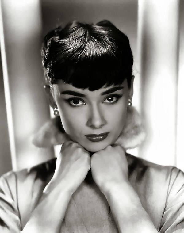 Studio Release Poster featuring the digital art Audrey Hepburn by Studio  Release 599f38323fdc