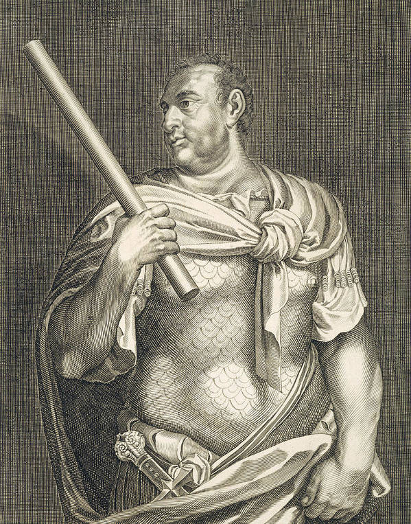 Titian Poster featuring the painting Aullus Vitellius Emperor Of Rome by Titian