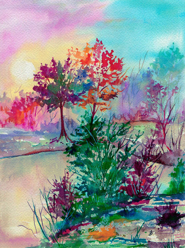 Watercolor Poster featuring the painting Autumn Aura by Brenda Owen