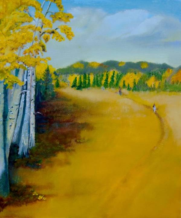 This 20x24 Oil On Canvas Landscape Of The Fall Poster featuring the painting Autumn Glory by David Morton