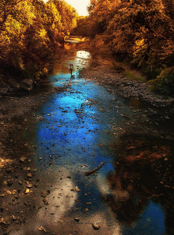 Kankakee Il Poster featuring the photograph Autumn Reflections On The Tributary by Thomas Woolworth