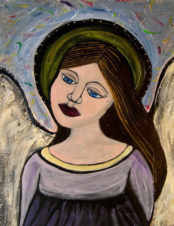 Angel Poster featuring the painting Ava by Kori Vincent