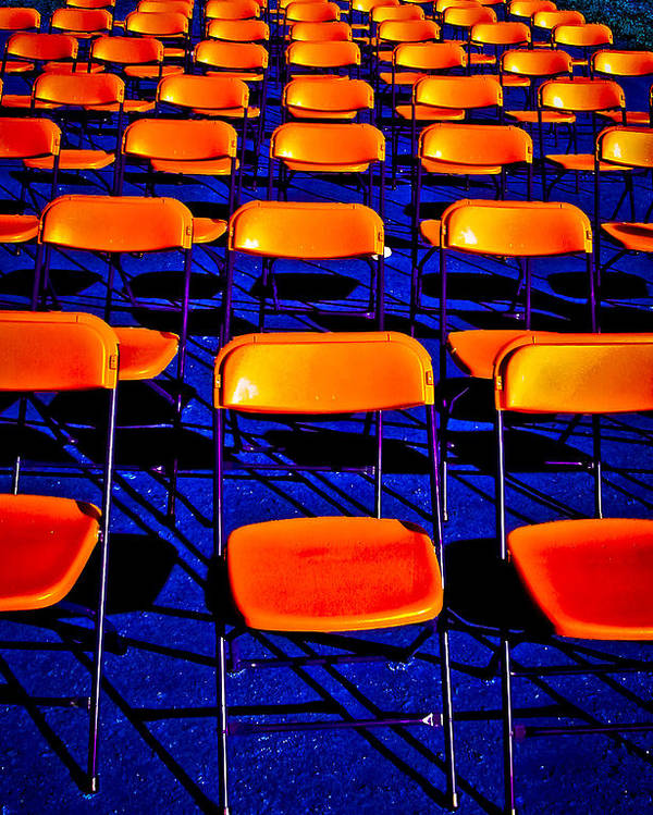 Chairs Poster featuring the photograph Awaiting an Audience by Jim Painter