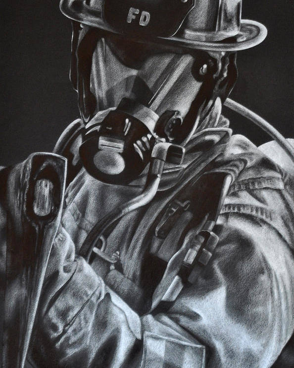 Firefighter Poster featuring the drawing Axe by Jodi Monroe