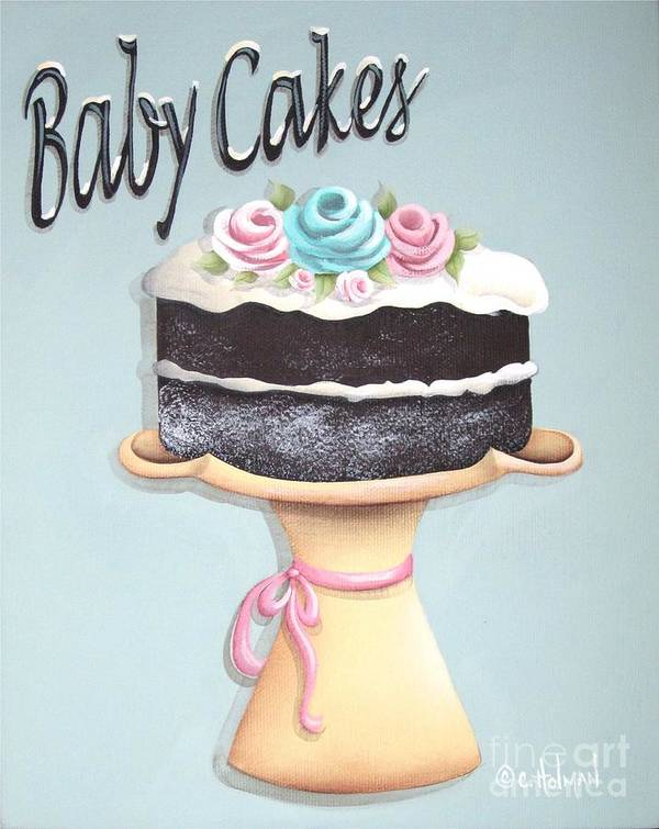 Art Poster featuring the painting Baby Cakes by Catherine Holman