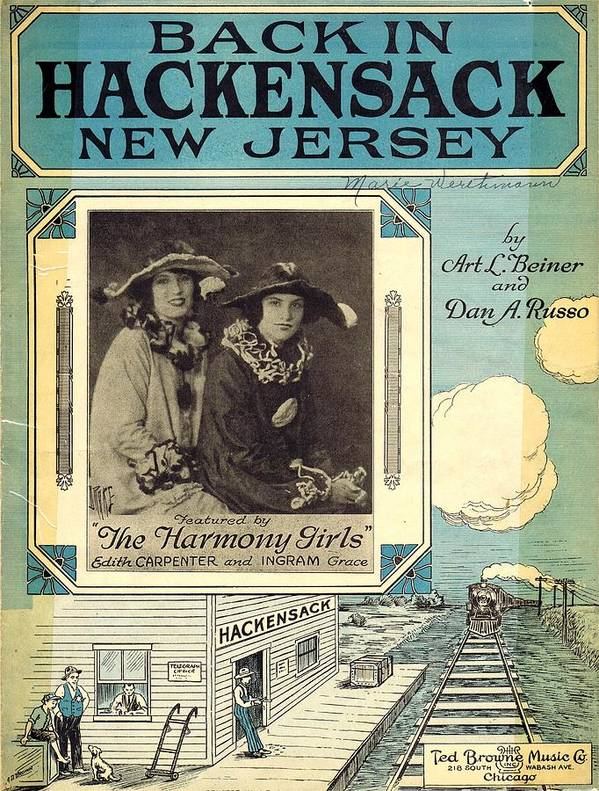 Nostalgia Poster featuring the photograph Back In Hackensack New Jersey by Mel Thompson