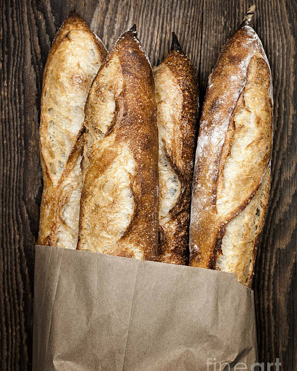 Bread Poster featuring the photograph Baguettes by Elena Elisseeva