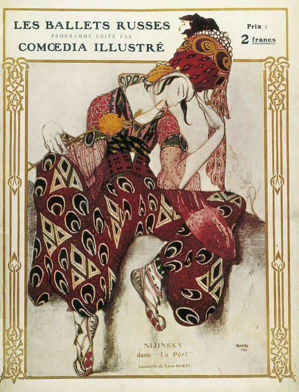 Vertical Poster featuring the photograph Bakst, L�on 1866-1924. La P�ri. 1911 by Everett