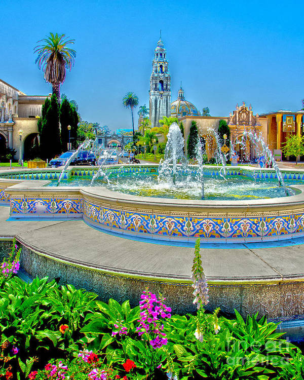 Balboa Park Poster featuring the photograph Balboa Park Tower by Baywest Imaging