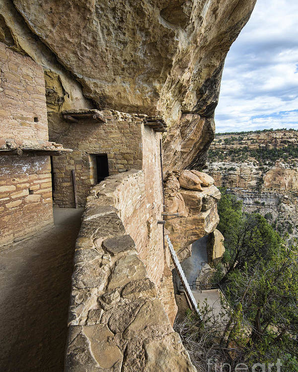 Mesa Verde National Park Poster featuring the photograph Balcony Houes 2 by Keith Ducker