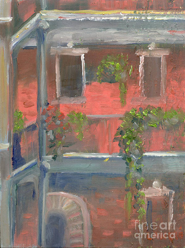 New Orleans Poster featuring the painting Balcony I by Lilibeth Andre