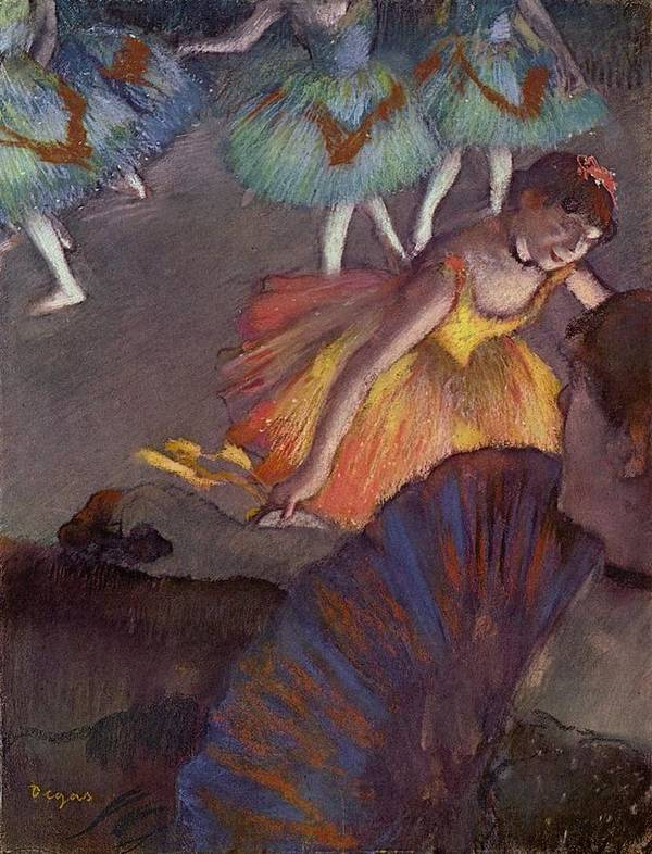 Edgar Degas Poster featuring the digital art Ballet by Edgar Degas