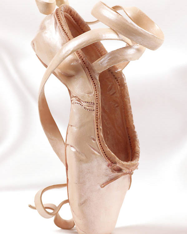 Ballerina Poster featuring the photograph Ballet Shoe by Kitty Ellis