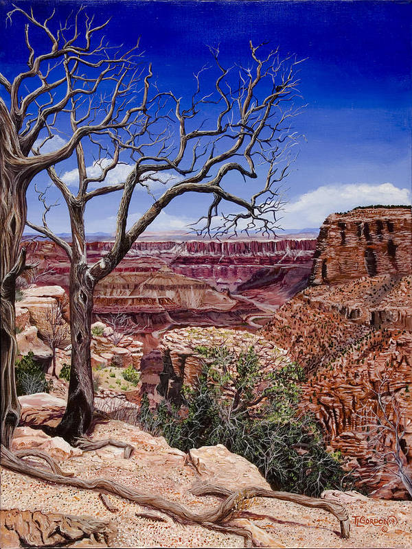 Landscape Poster featuring the painting Bare Limbs by Timithy L Gordon