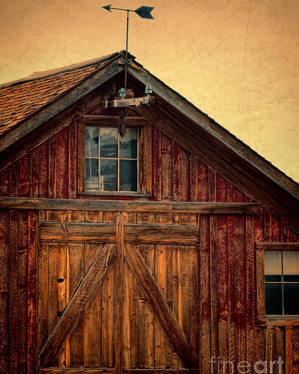 Farm Poster featuring the photograph Barn With Weathervane by Jill Battaglia