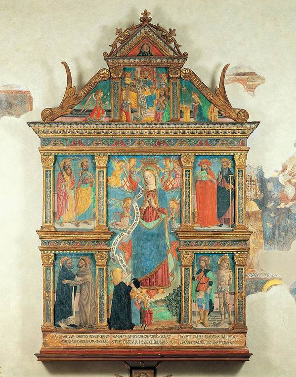 15th Century Poster featuring the photograph Bartolomeo De Benzi, Madonna And Angels by Everett