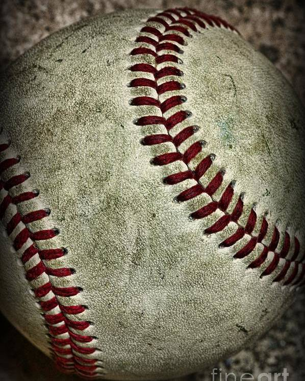 Paul Ward Poster featuring the photograph Baseball - A Retired Ball by Paul Ward