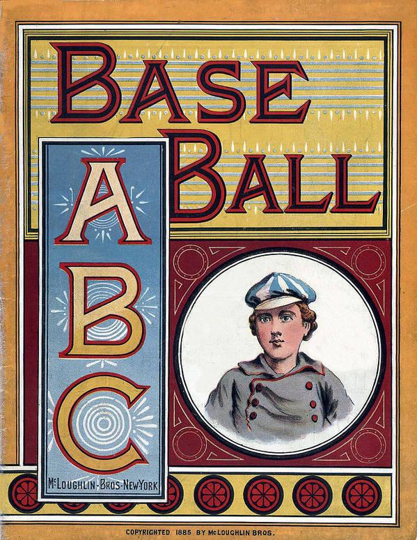 Base Ball Abc Poster featuring the digital art Baseball Abc by McLoughlin Bros